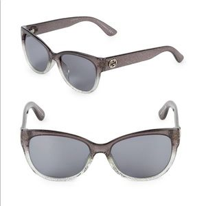GUCCI Gray butterfly sunglasses